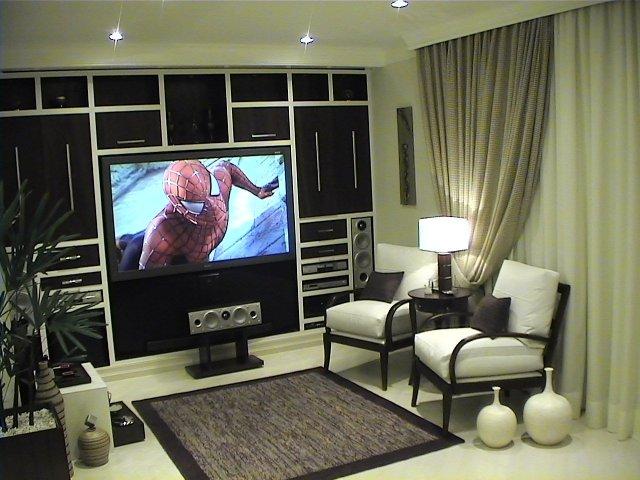 Sala De Tv Com Projetor ~ Home Theater  Projetos, instalação e equipamentos